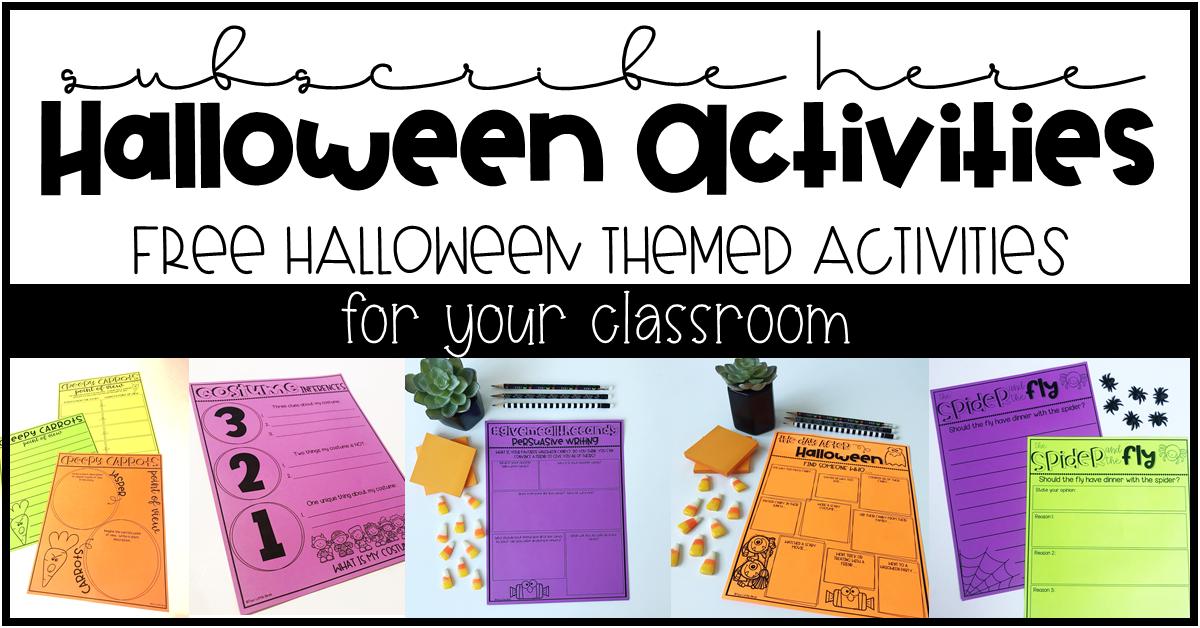 Favorite Halloween Activities for Upper Elementary Classrooms - Two