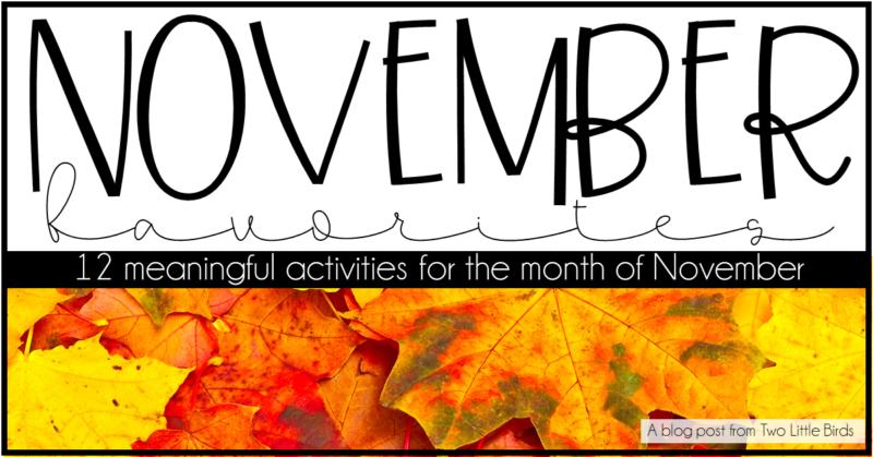 Favorite November Activities for Upper Elementary Students