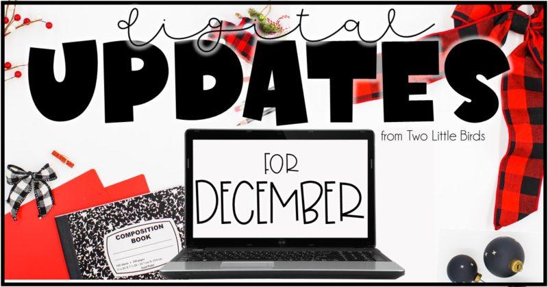 Resource Updates: Digital Updates for December