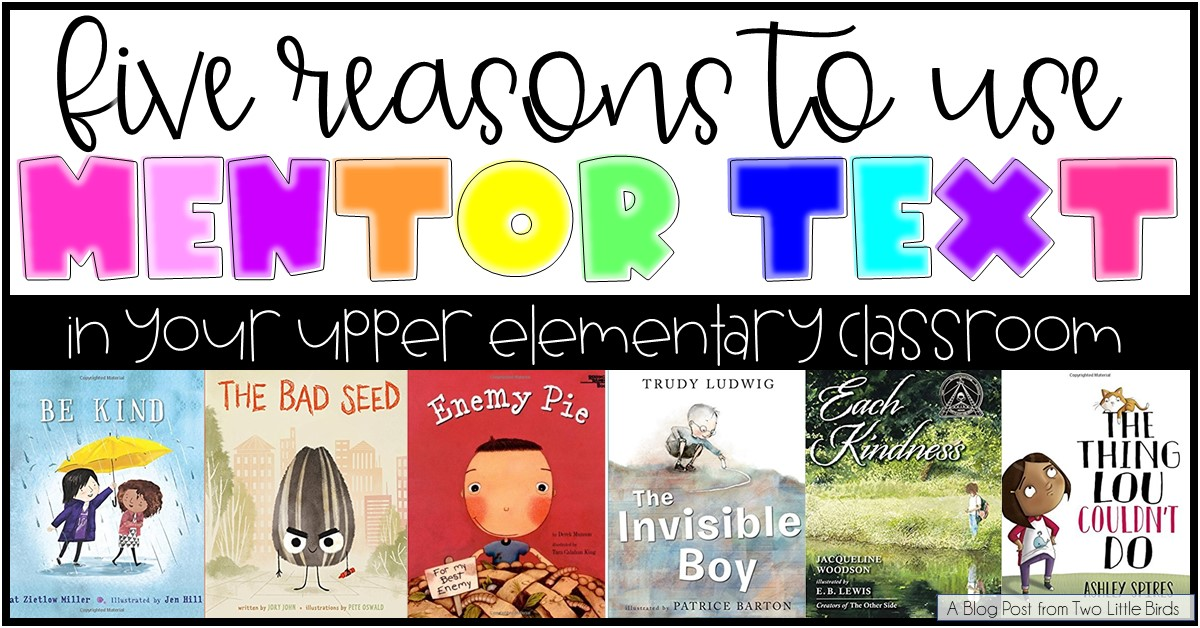 using mentor text in the classroom