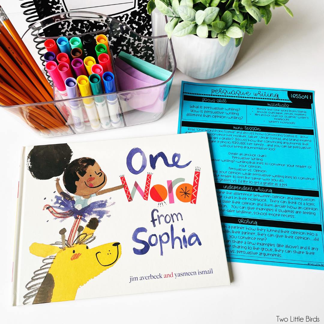 one word from Sophia mentor text