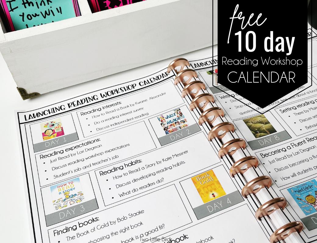 free reading calendar