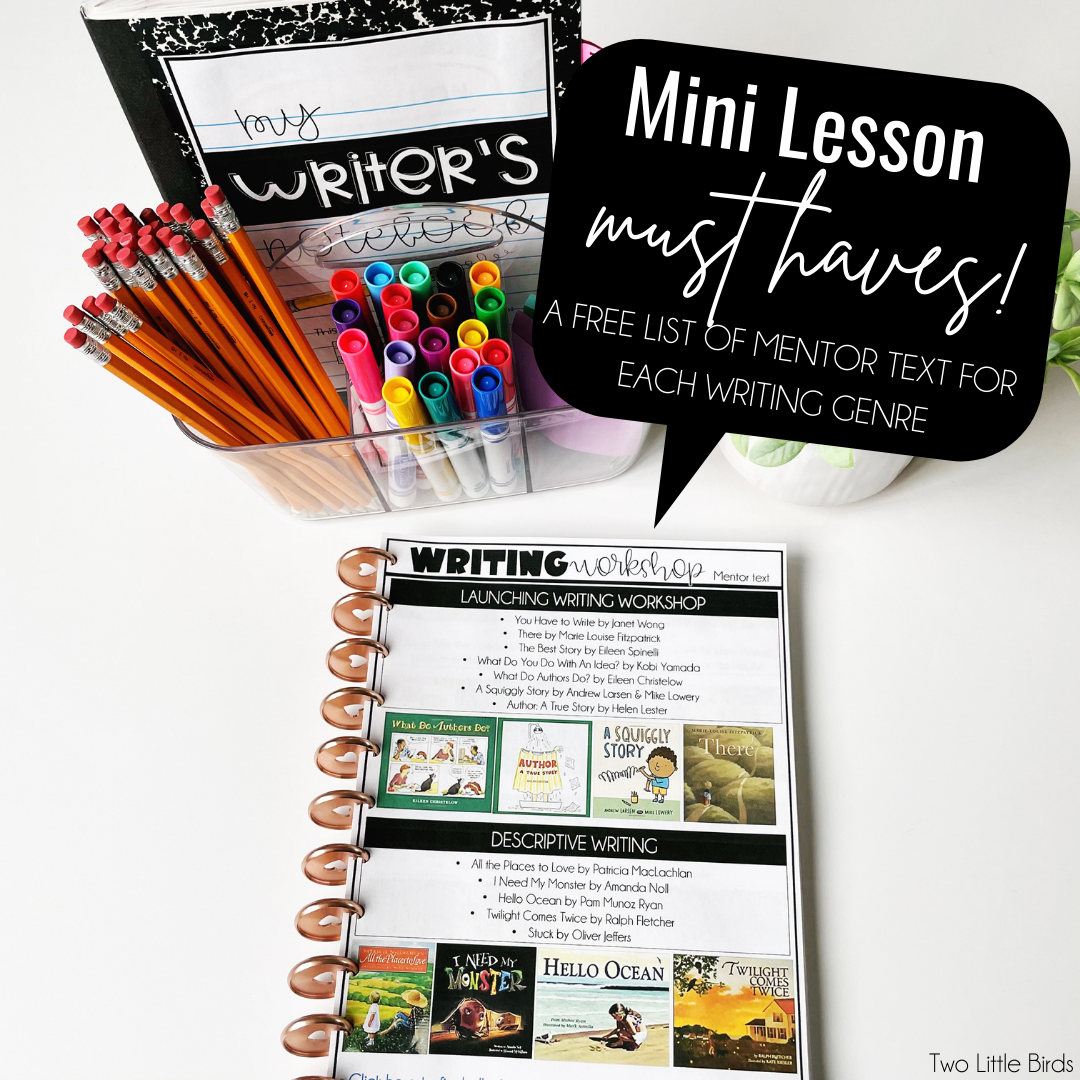free set of mentor text for all writing genres