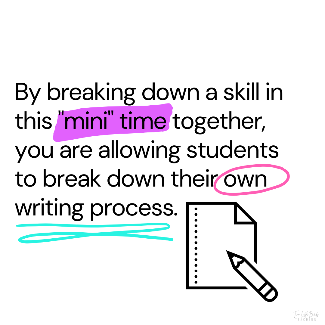 writing workshop writing process