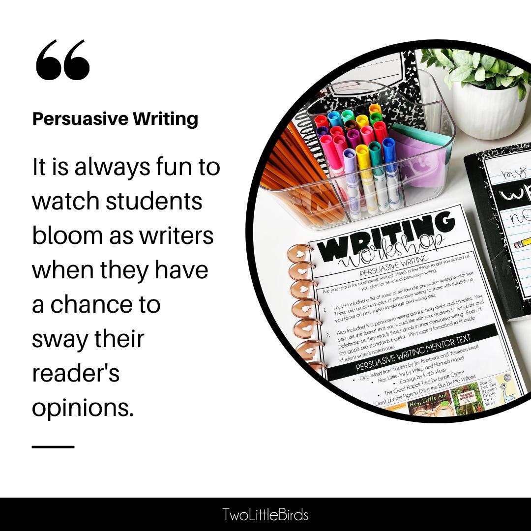 teaching persuasive writing