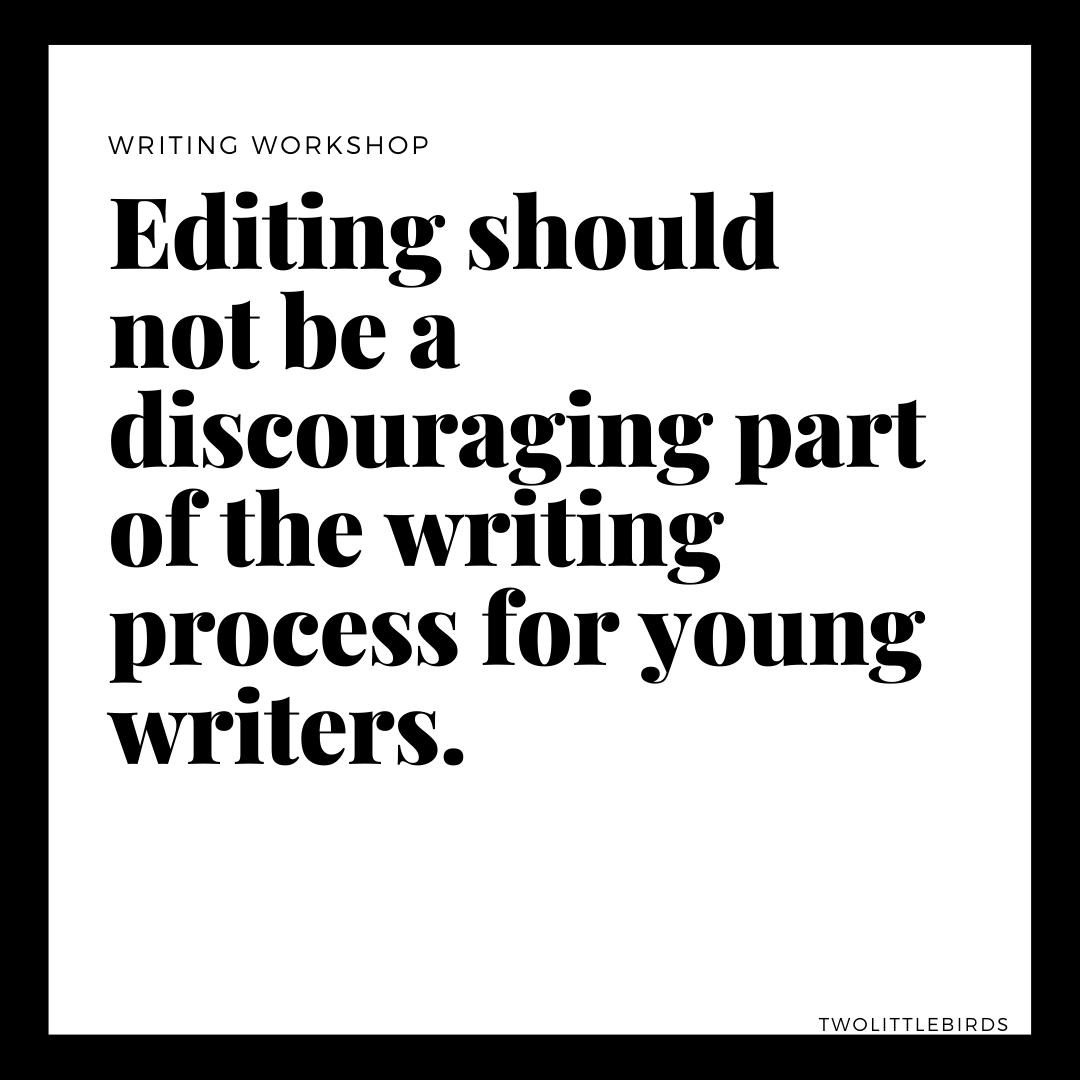 Editing writing process