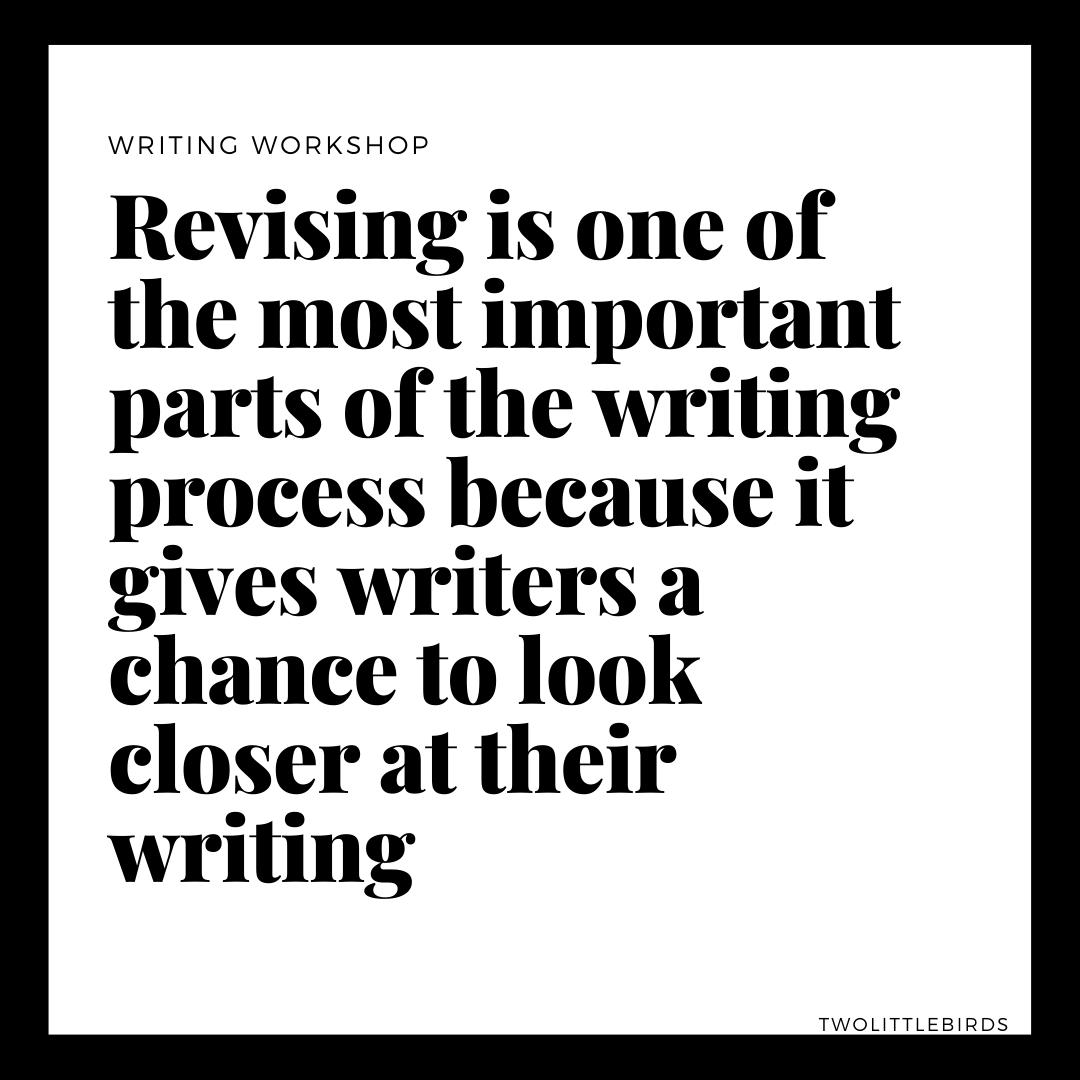 Revising writing process